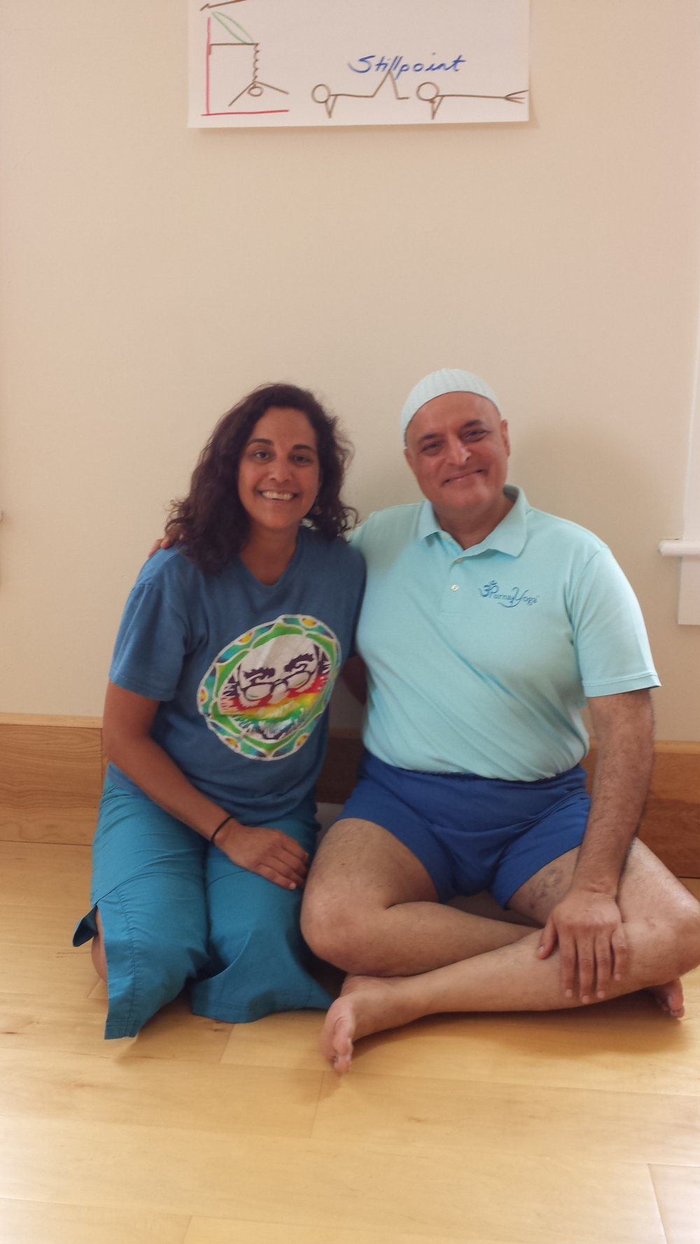 Lisa Amani with her teacher Aadil Palkhivala in 2015
