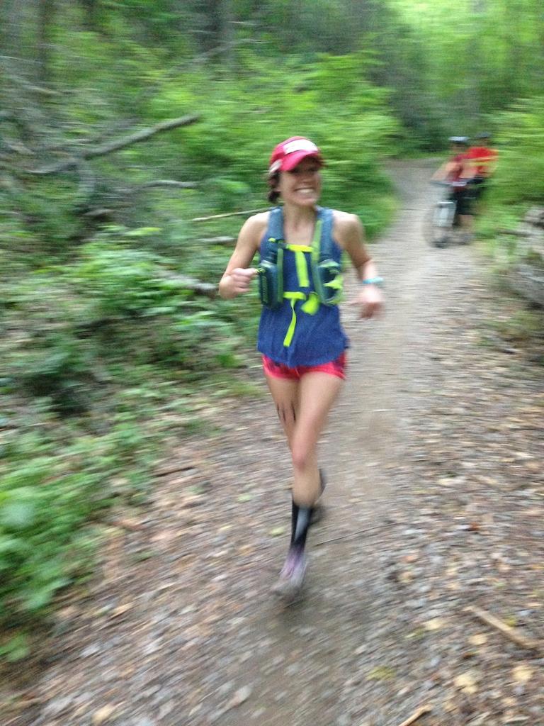 Dorothy Hans running her first ultra marathon photo by Watts Dixon