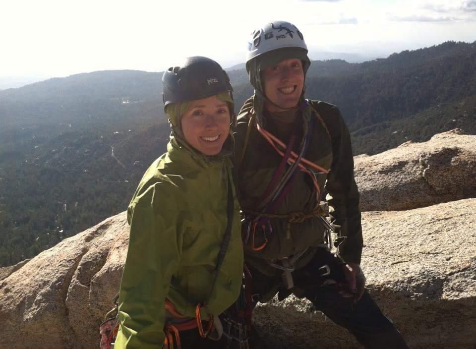 Ann and Kory McAfee Climbing