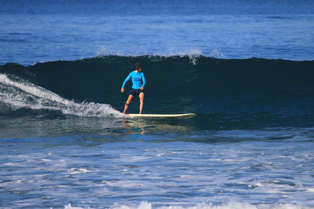 Maia Dery Surfing Photo by Jeffrey Boltodano