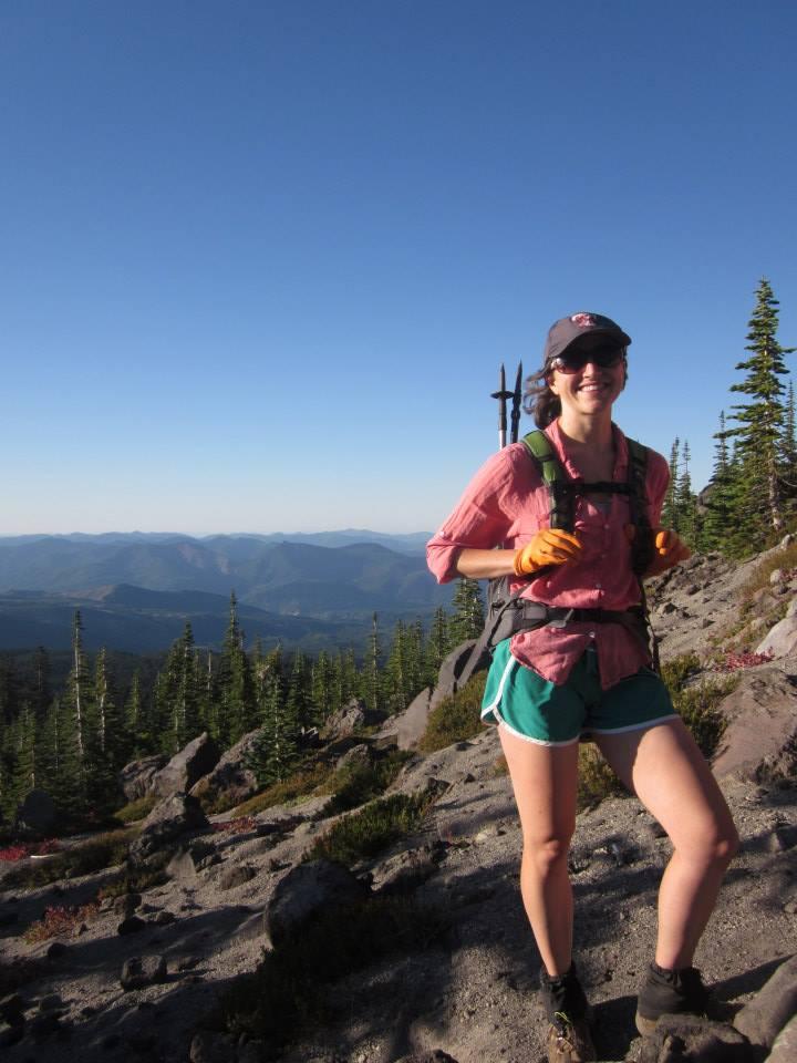 Rebecca Hamilton hiking