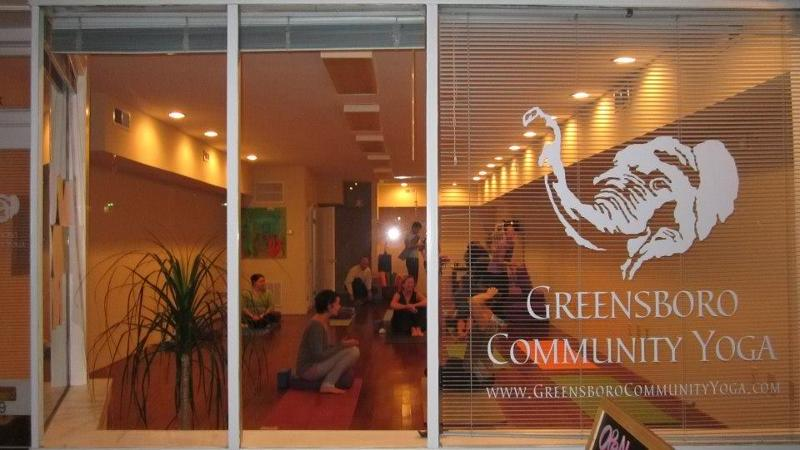 The very first class at Greensboro Downtown yoga Wednesday December 3rd 2012