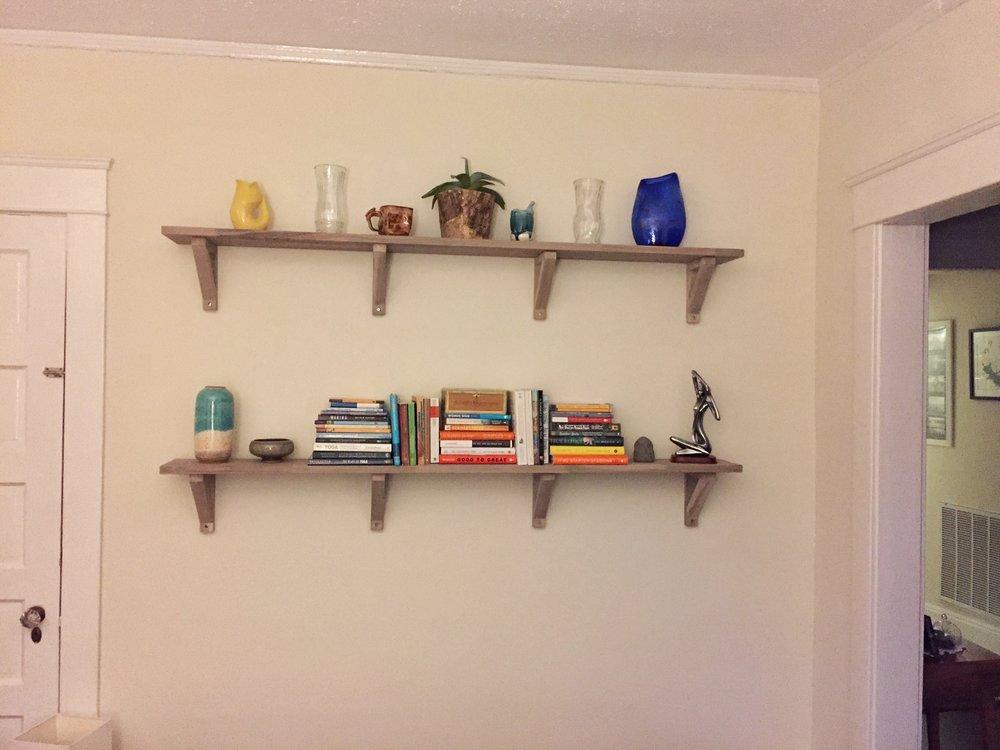 Alisha Wielfaert's Shelves with L brackets