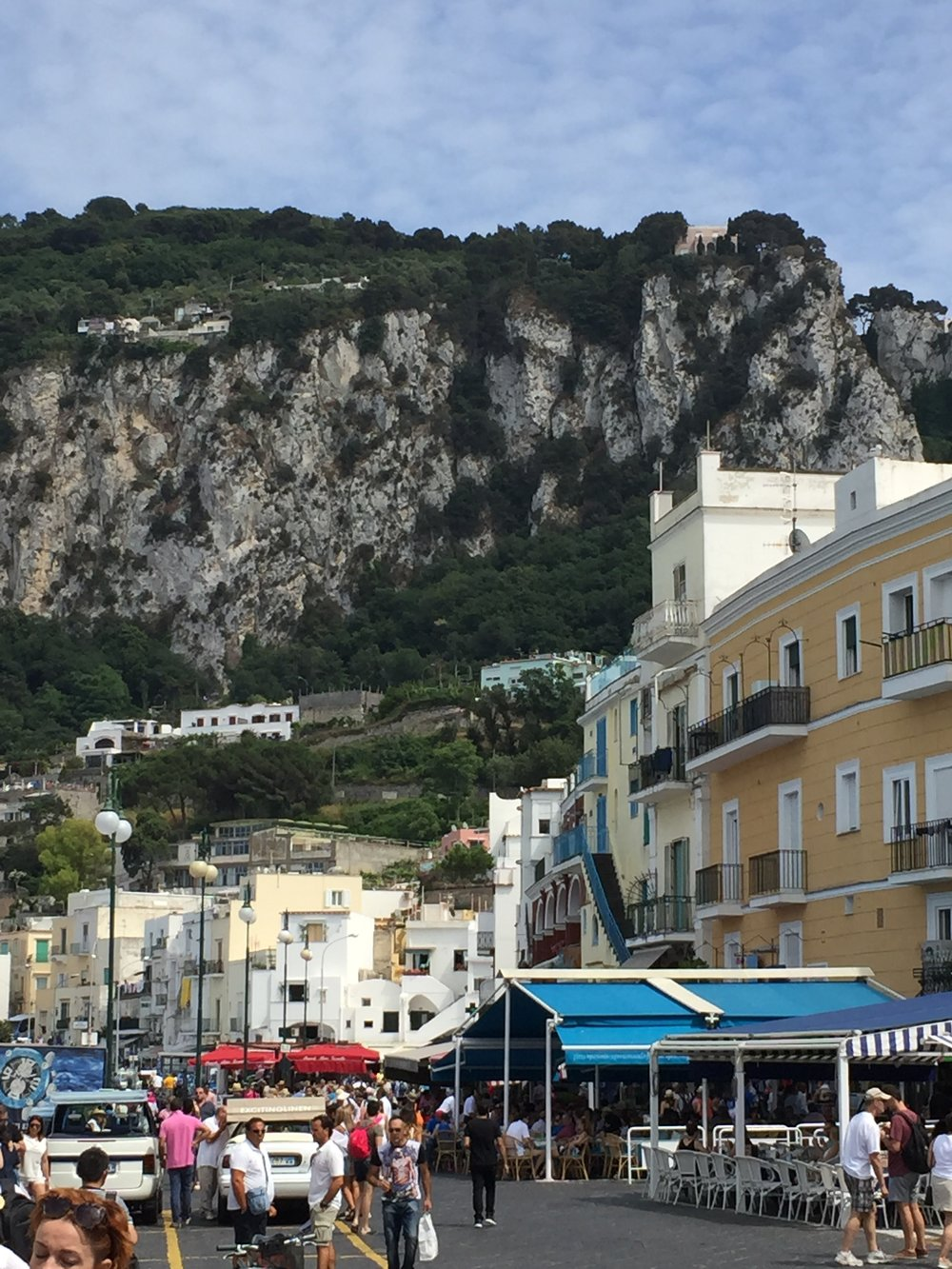 Capri, Italy Main City Square right off the boat