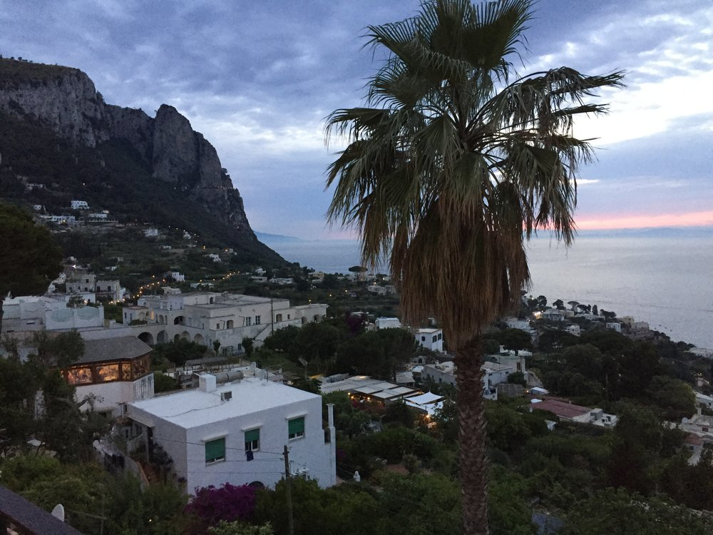 Evening View of Capri, Italy