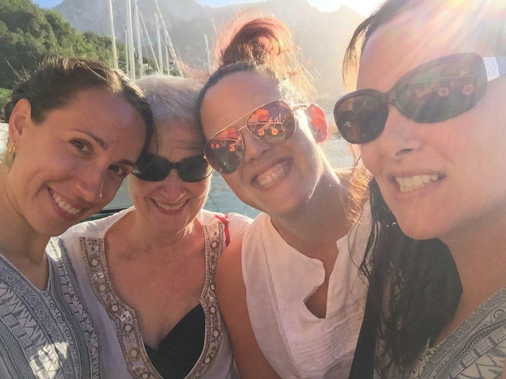 On a boat in Capri, Italy