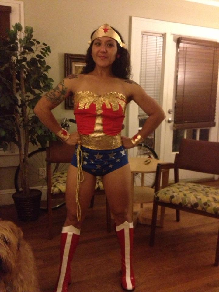 Melissa Poillot-Micca as wonder woman