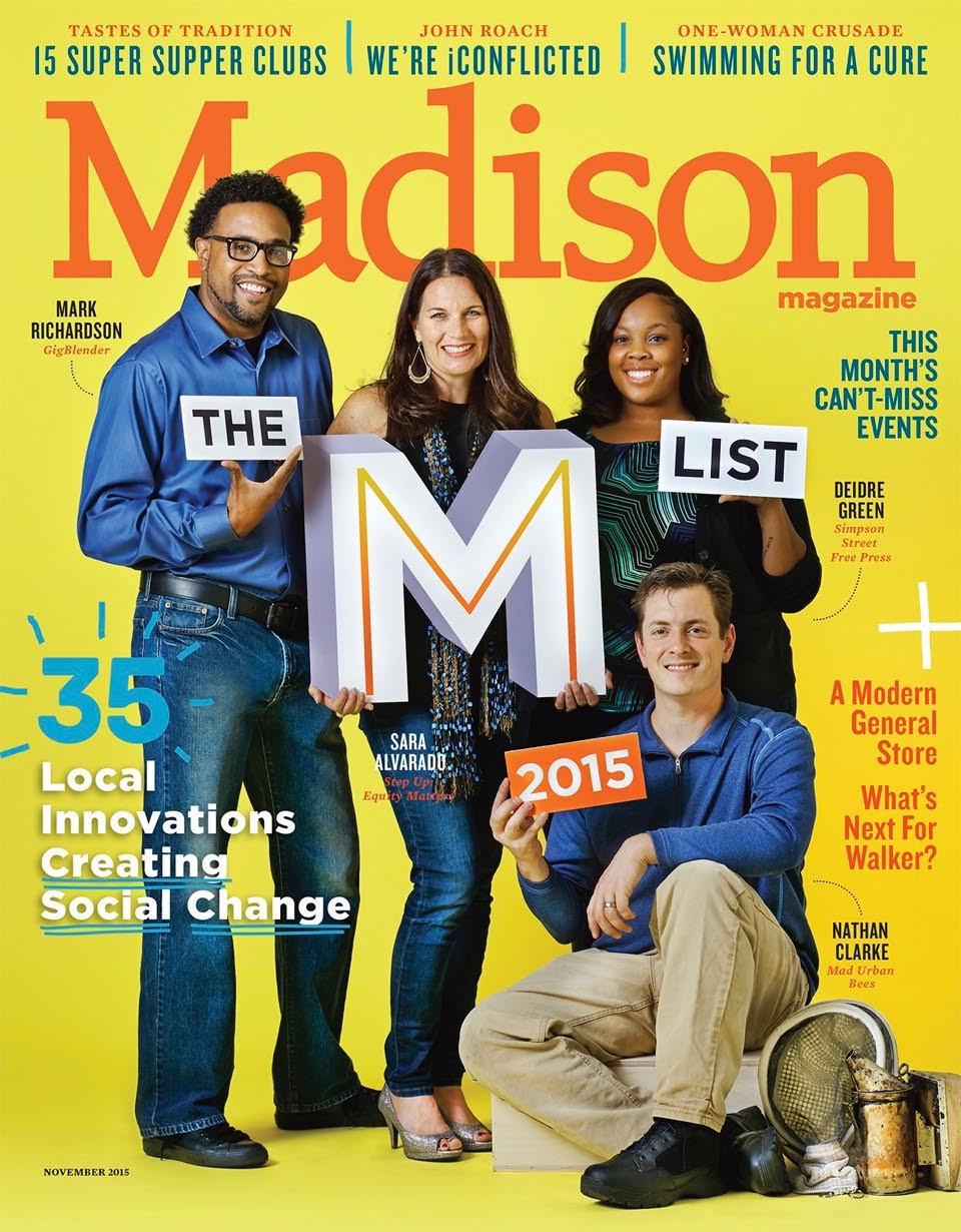 Sara Alvarado on the cover of Madison