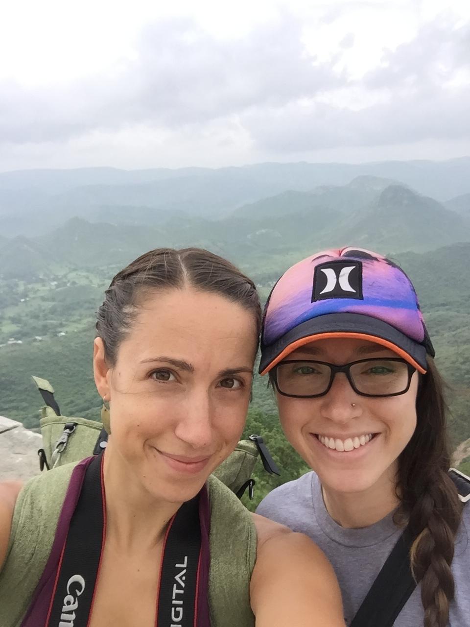 Ann and Alisha at the Top of Monsoon Palace