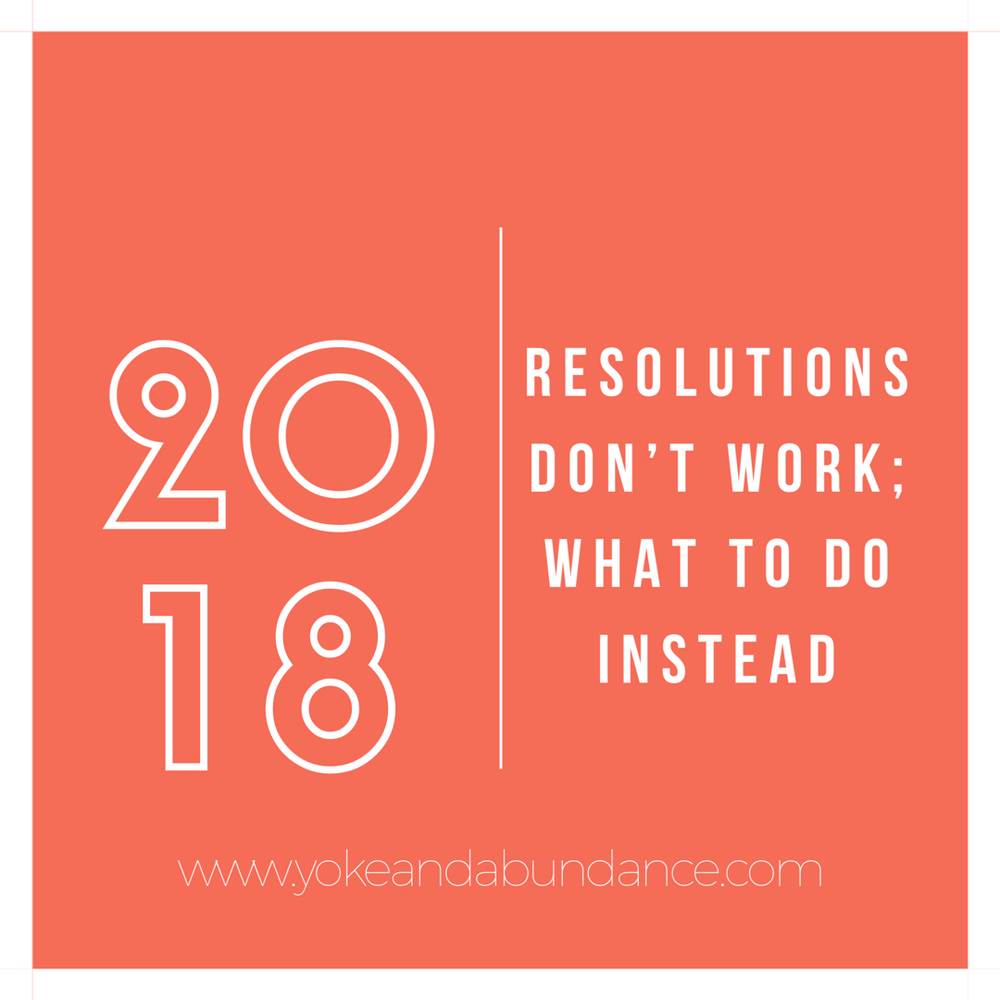 Resolutions don't work