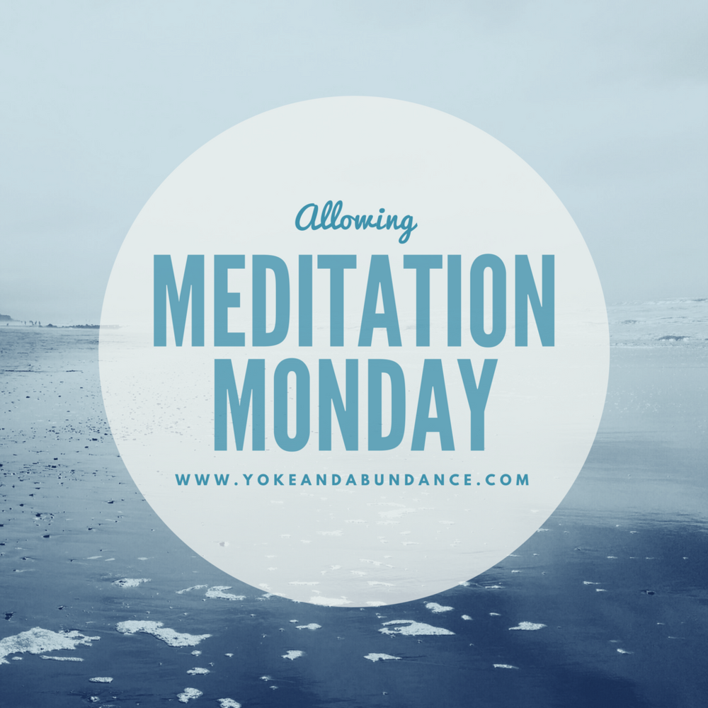 Meditation Monday: Allowing