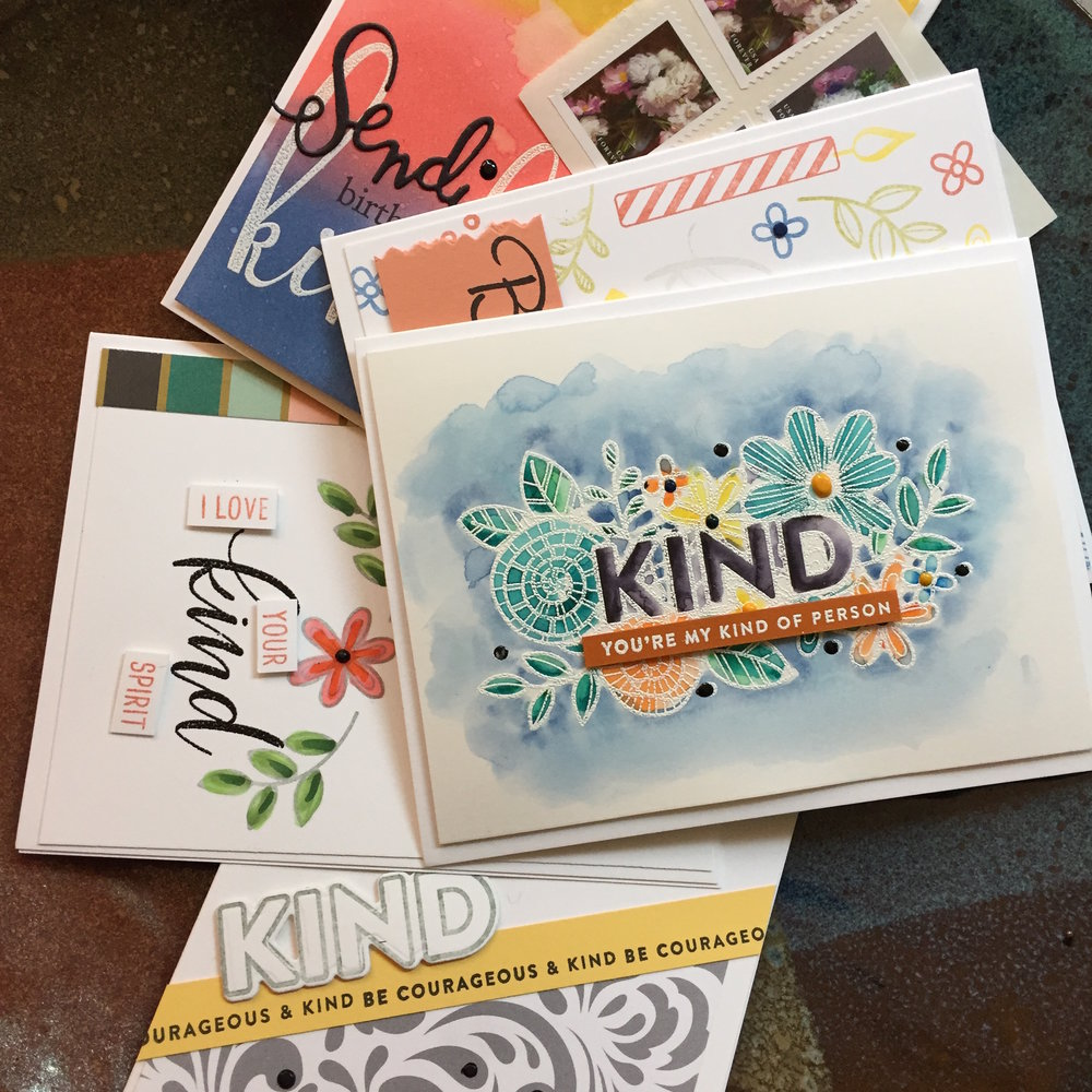 March's 5 card subscription from Hand Made Happy Mail
