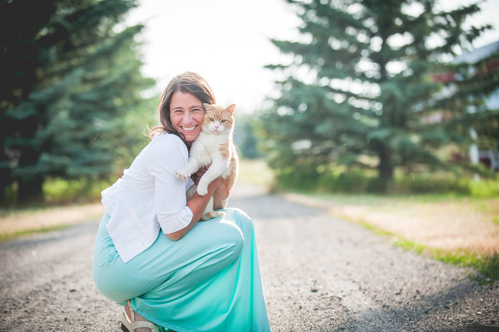Angela Marie Patnode and Cat.