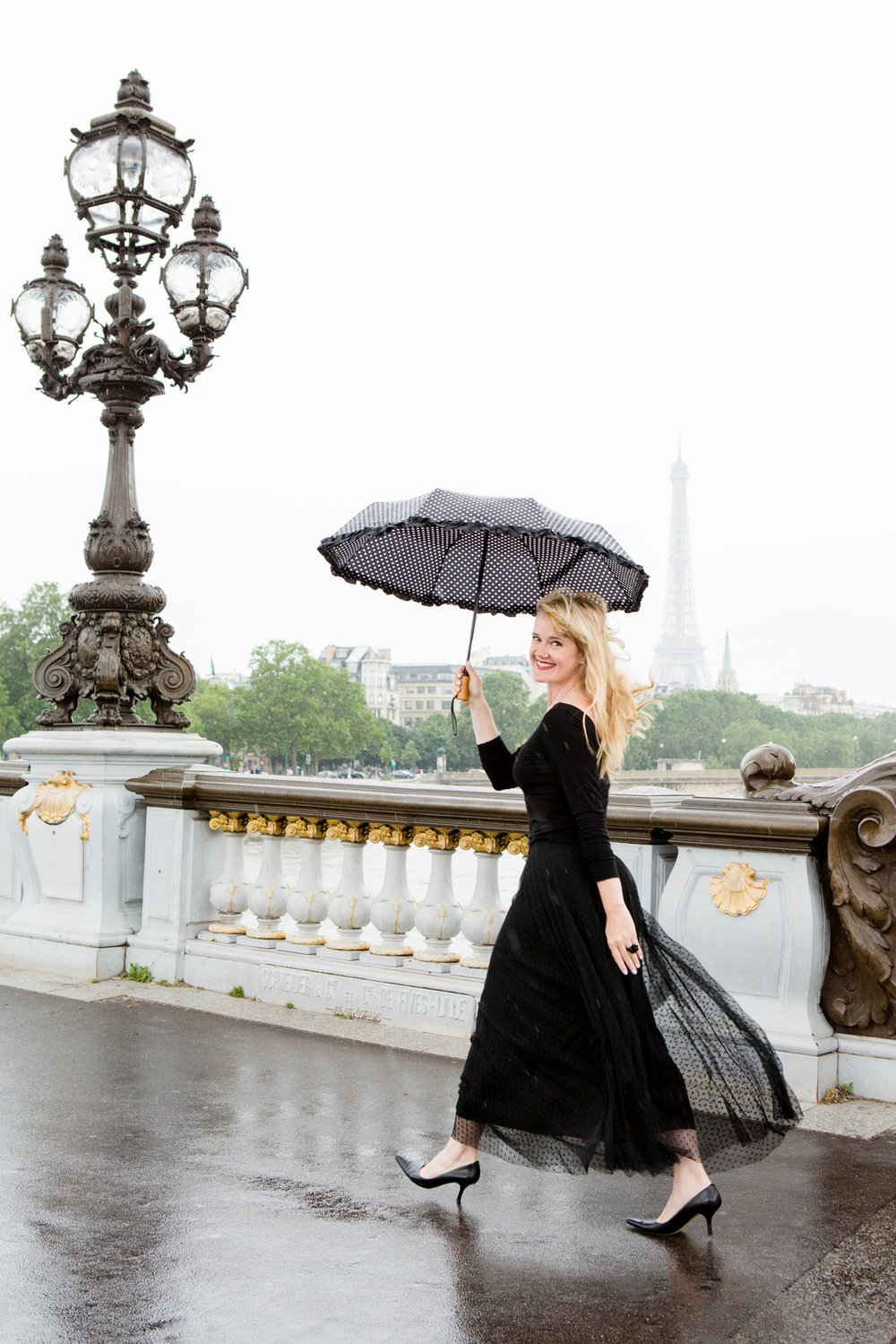 Kimberly paris with Umbrella