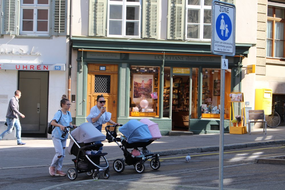 Baby Buggies on the streets of Basel, Switzerland