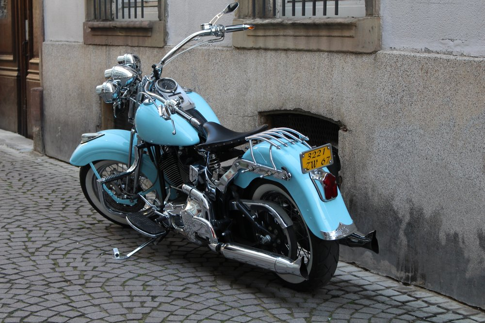 Motorcycle in Strasbourg, France