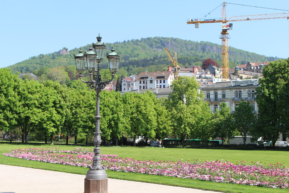 View in front of the casino in Baden-Baden, Germany