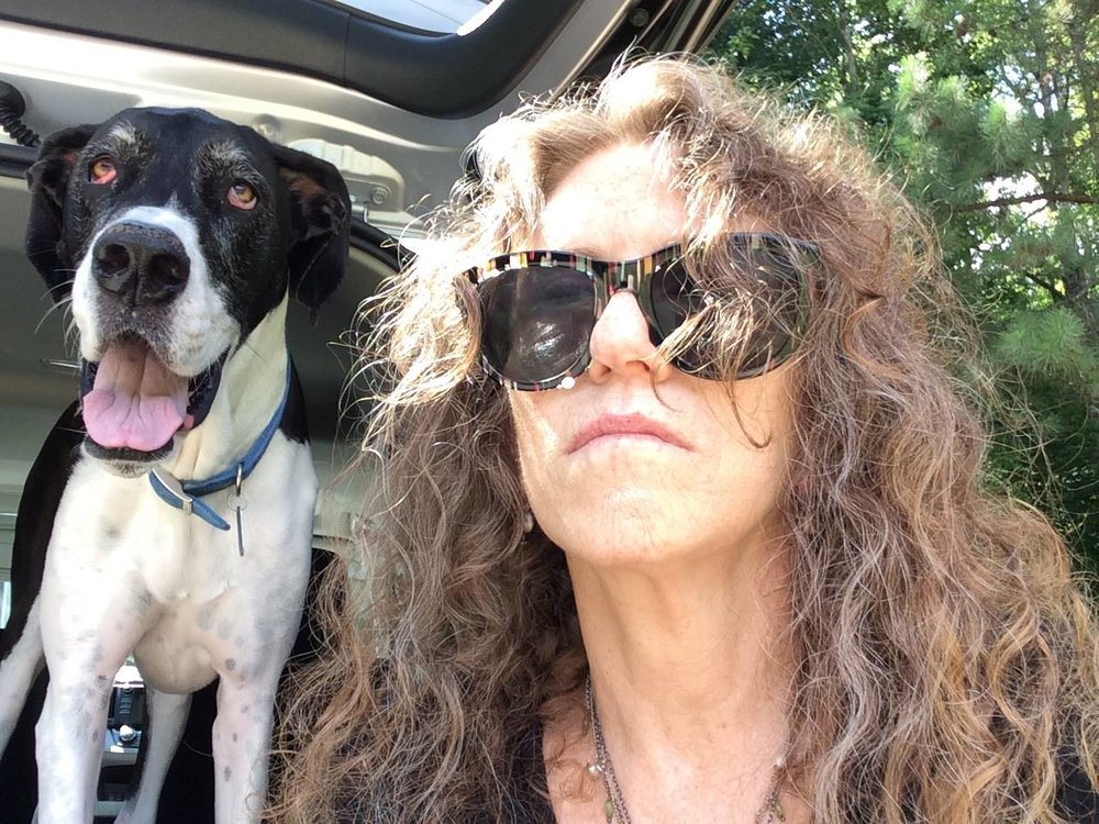 Sudie Rakusin and her dog.jpg