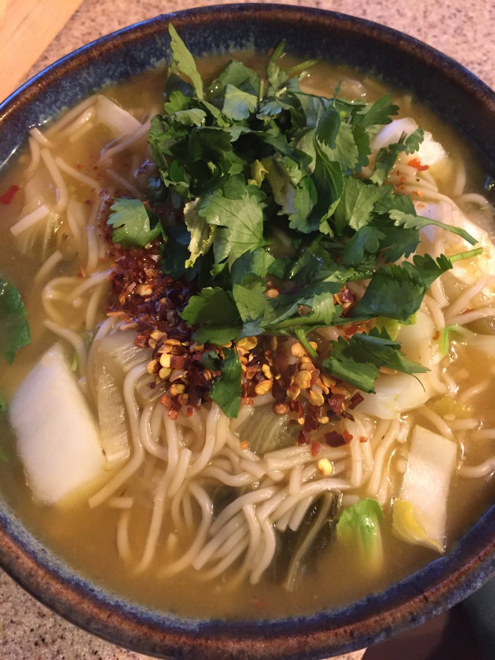 Alisha's Ginger, Garlic, Noodle Bok Choy soup.jpg