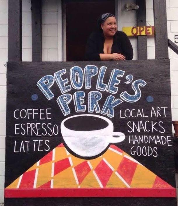 Karen Archia at the people's perk.jpg