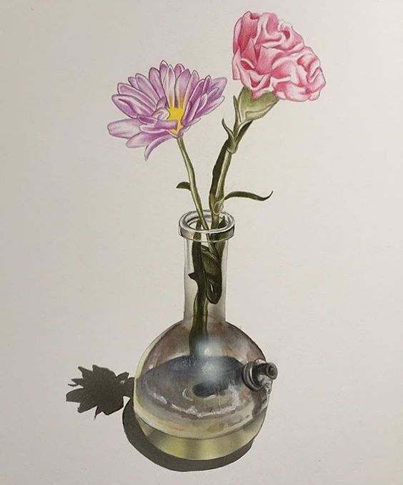 Michelle Devereux, Flowers in Homemade Bong