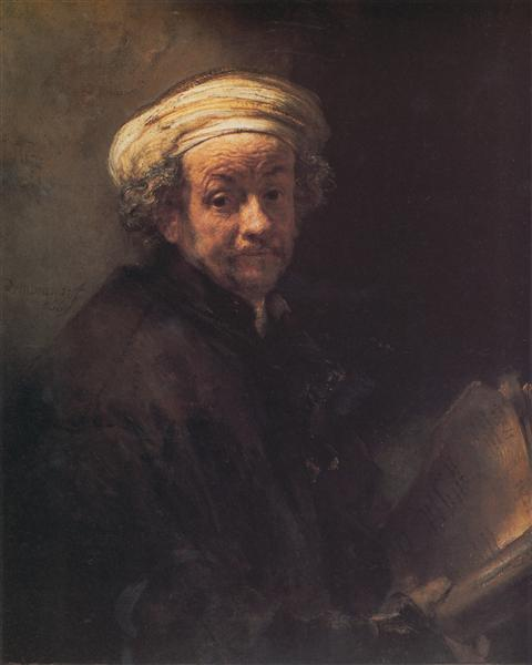 """Self-Portrait"", Rembrandt, 1661, Rijchtmuseum, Amsterdam, oil on canvas."