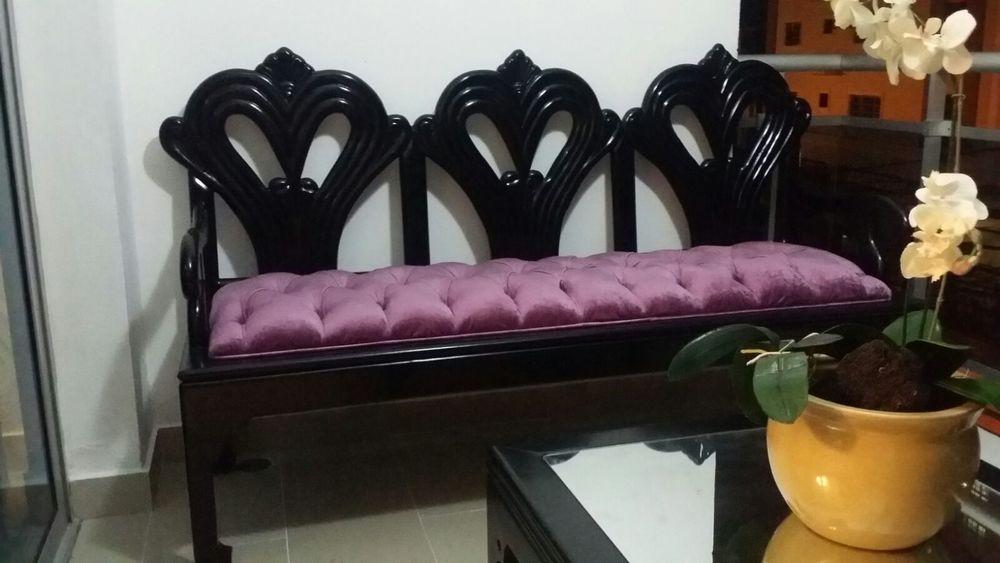 Mueble de 3 después de retapizado