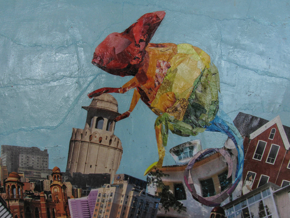 Chameleon. Collage by Shaylee Rodas