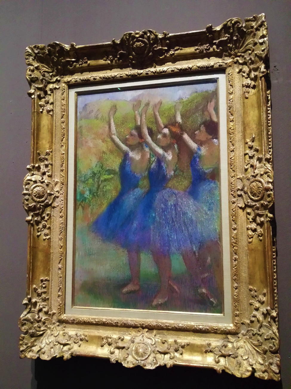 """Three Dancers in Violet Tutus"". Photo taken by me in an art gallery this summer during the English Department's Study Abroad to London."