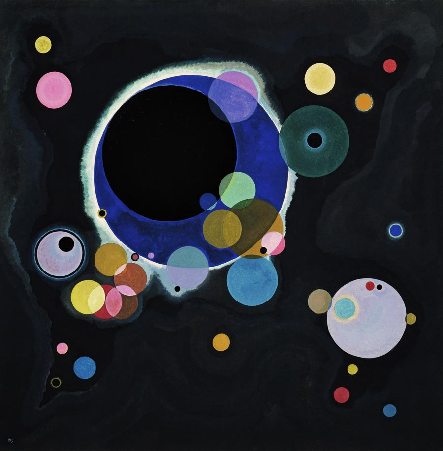 Severel Circles by Wassily Kandinsky
