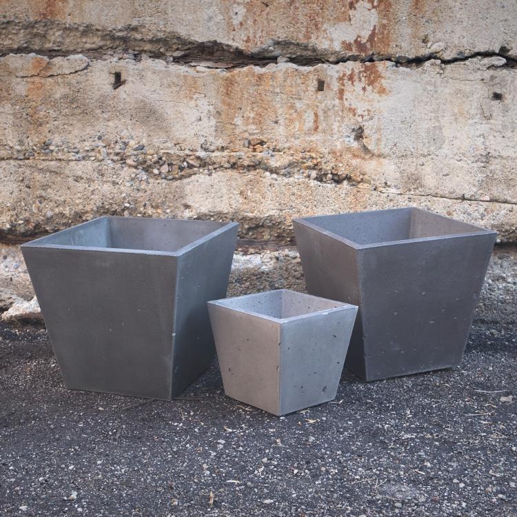 organicrete concrete planter