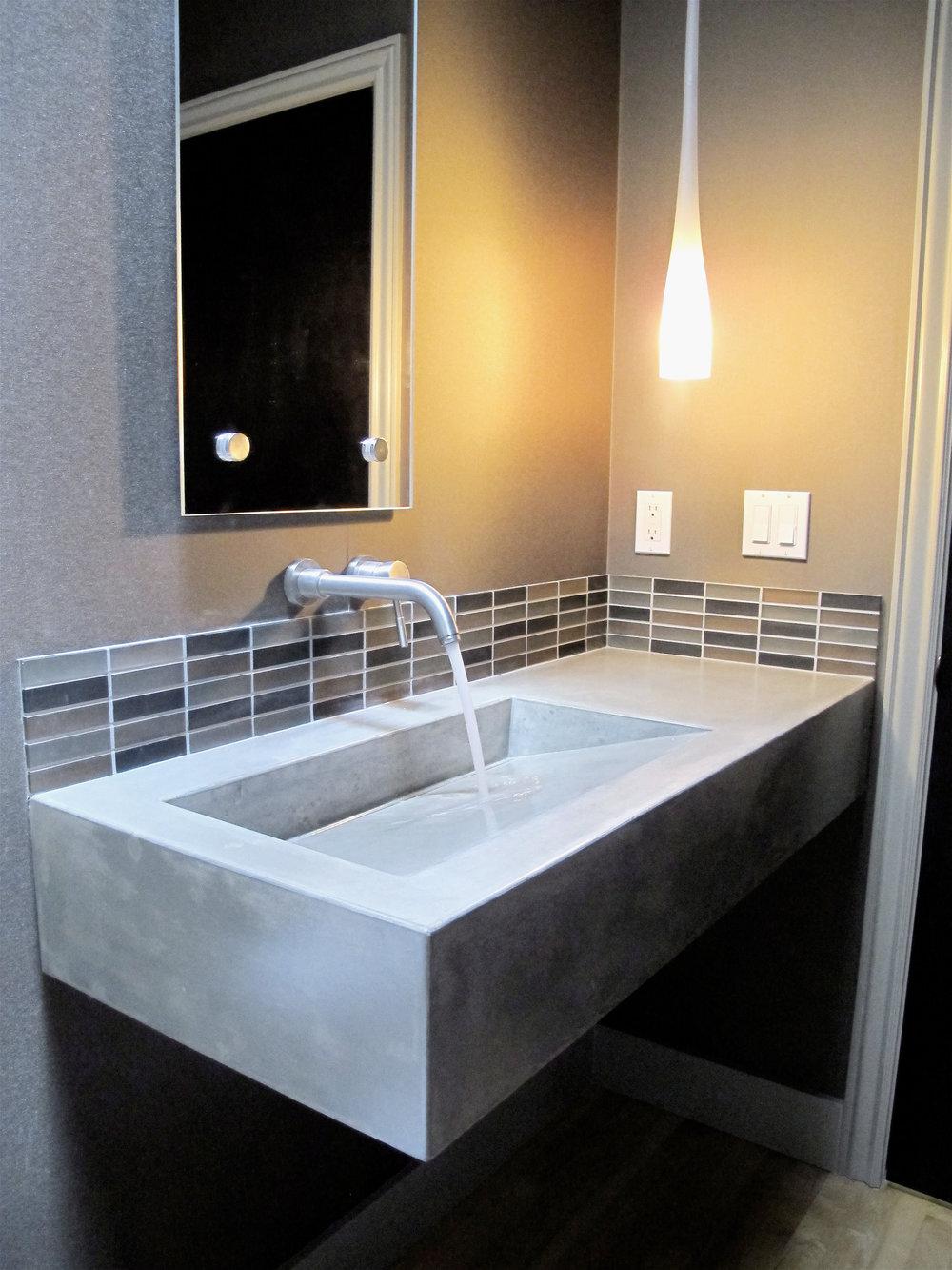 Residential Custom Ramp Sink