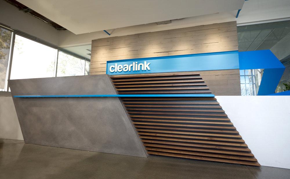 Clearlink OrganiCrete® Concrete Reception Desk