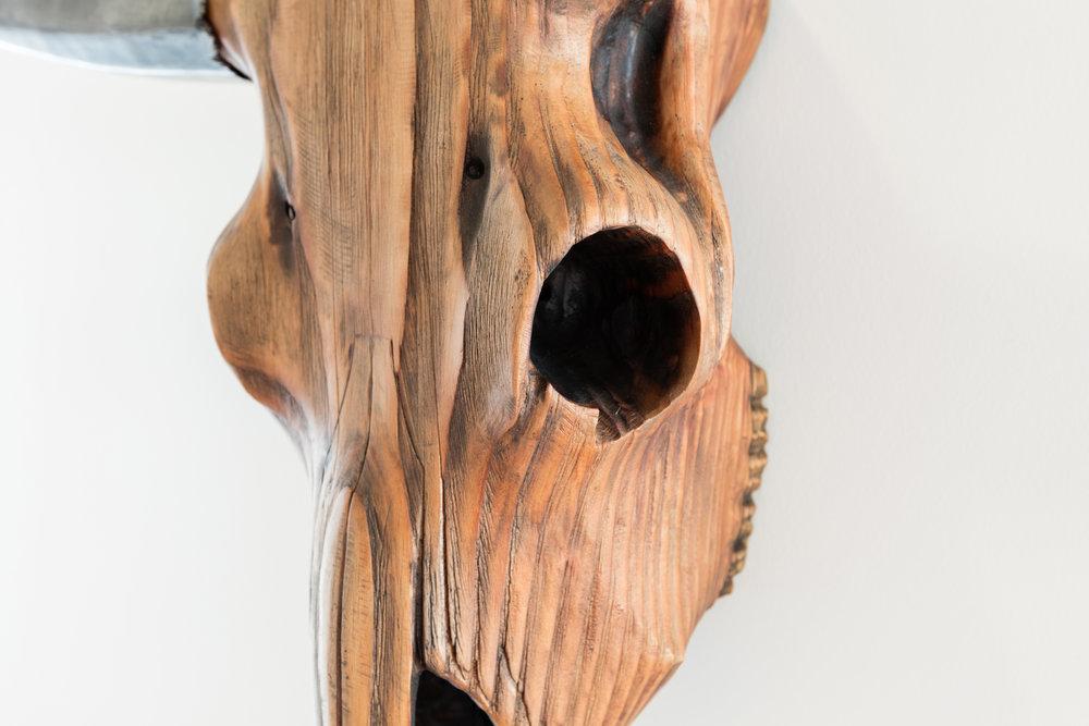 Traeger Grills Custom Bull's Head Detail