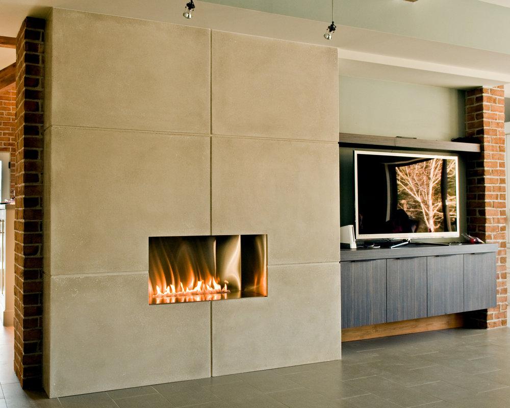 OrganiCrete® Concrete Fireplace