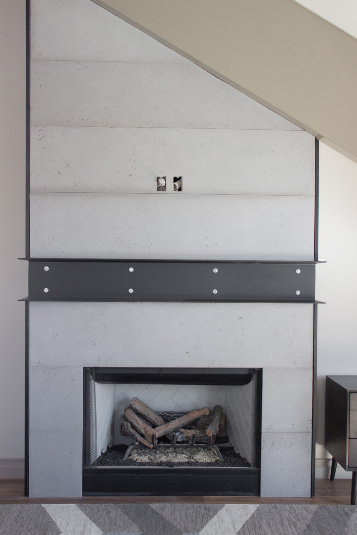 OrganiCrete® Concrete Panelled Fireplace