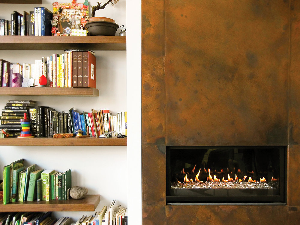 IronClad® Tall Fireplace Detail