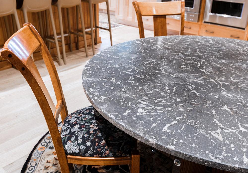 OrganiCrete Mottled Dining Table Detail