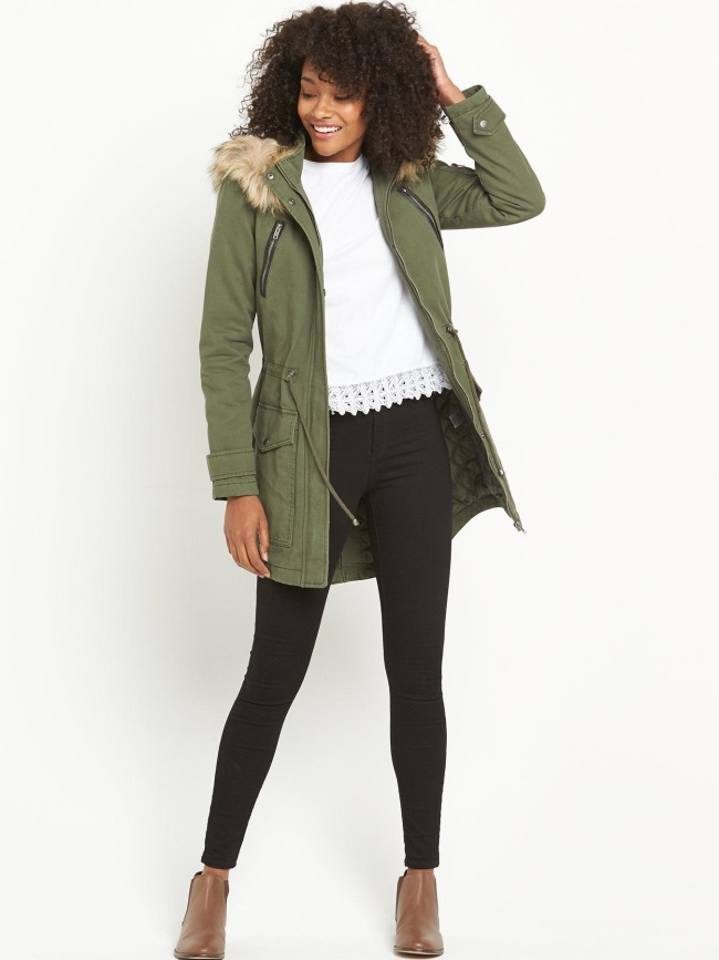 The Parka is a timeless style that reinvents itself each year. We love this number from Very.co.uk. The faux fur trim around the hood gives it that feminine feel and you can't beat the classic Khaki colour.