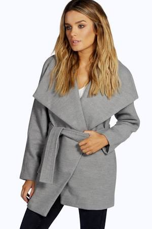 The Wool Coat (also available in Camel and Black) has become a popular look this winter. It looks great and it feels fabulous.  We think this coat from Boohoo is a bargain. The belted waist is also a key feature this season!