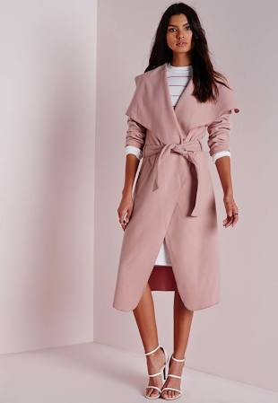The Waterfall coat just oozes sophistication and glamour. We think this stylish number looks marvellous in mauve. Only £35.00 from Missguided! You can't go wrong!