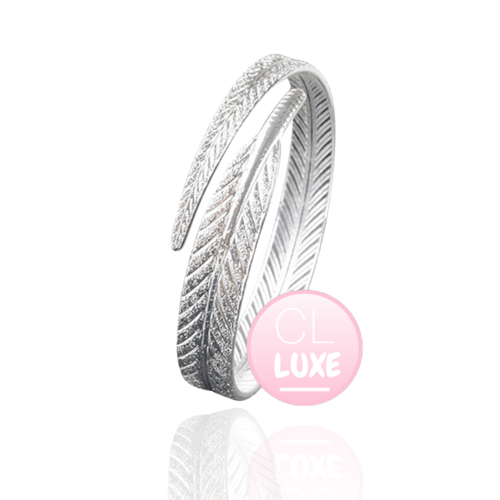 LUXE Feather Wrap Bangle