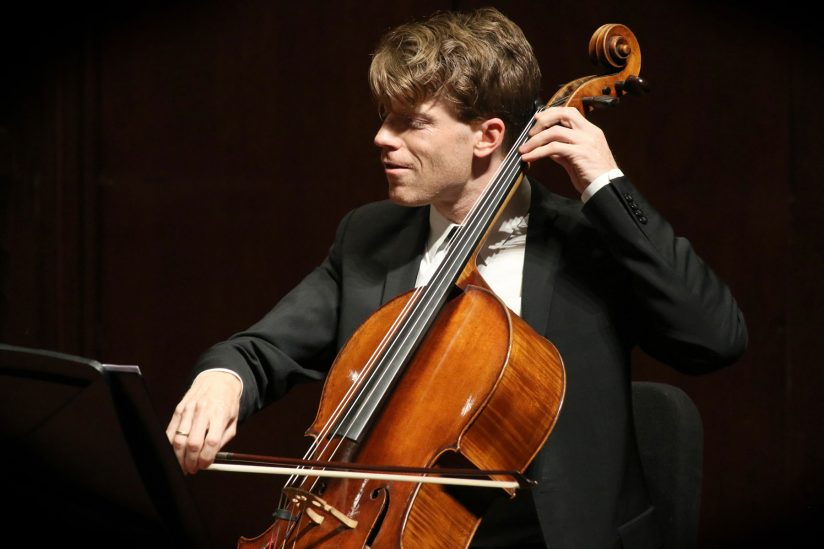 "Alumni cellist Eric Byers had less than 36 hours to prepare for a big concert with the L.A Philharmonic after receiving the ""dream call"" to fill in. (USC Photo/Daniel Anderson)"