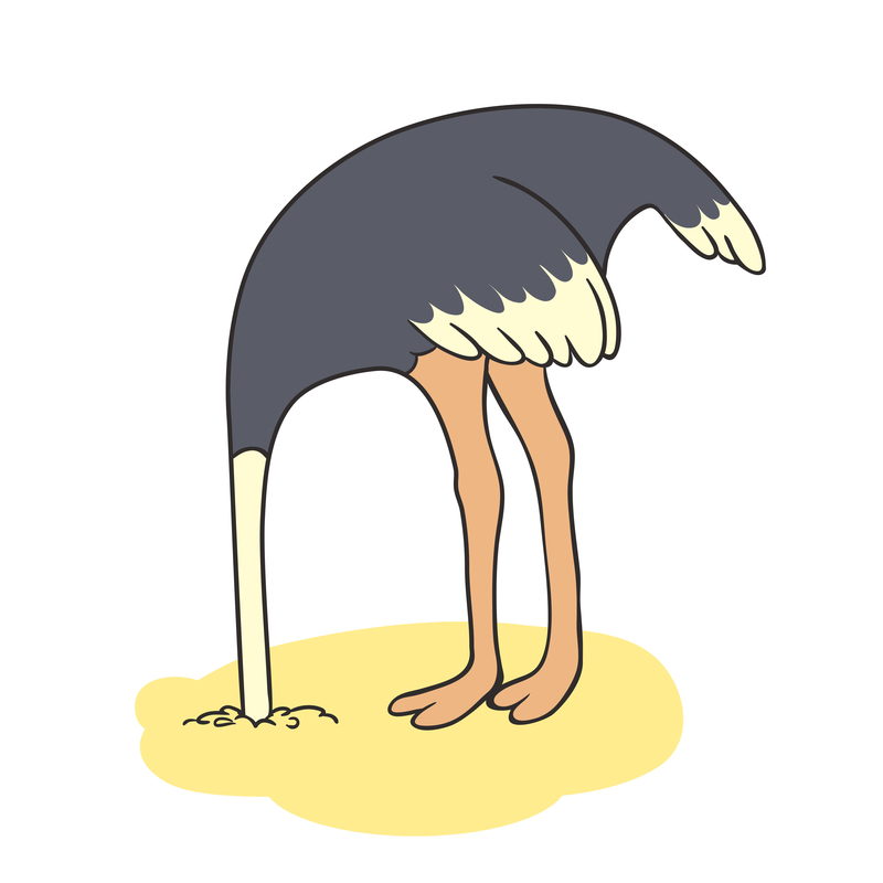 "© Balakobo | Dreamstime.com - <a href=""http://www.dreamstime.com/stock-illustration-outlines-ostrich-hiding-its-head-sand-vector-illustration-image57092017#res13434849"">Outlines Of An Ostrich Photo</a>"