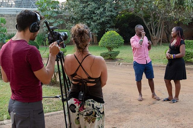 """Zicomo"" - thank you - in Nyanje. Upside Reports filming Euphemia sharing gratitude for GBCZambia.org supporting her to go to RIT University in NY! She leaves tomorrow! Our 1st interview snailed for 1st Zambian Deaf Leadership Summit in #zambia for #GBCZTeam GBCZambia.org with @refan & @upsidedownchachi"