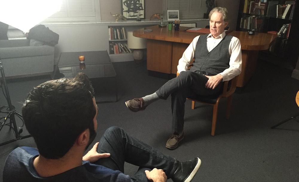 HWP's Aaron Wolf interviews Kevin Kline