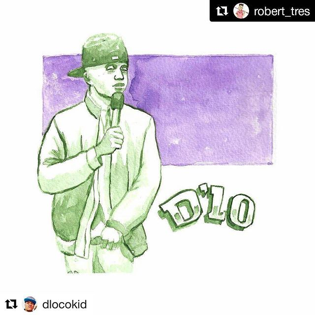#Repost @dlocokid (@get_repost) ・・・ Brother @robert_tres did this a while ago and i just saw it.  #honored #HonoredByAnotherArtistIHonor