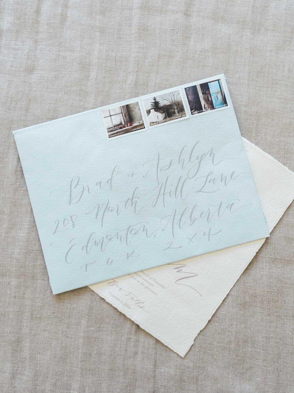 Calligraphy envelope addressing