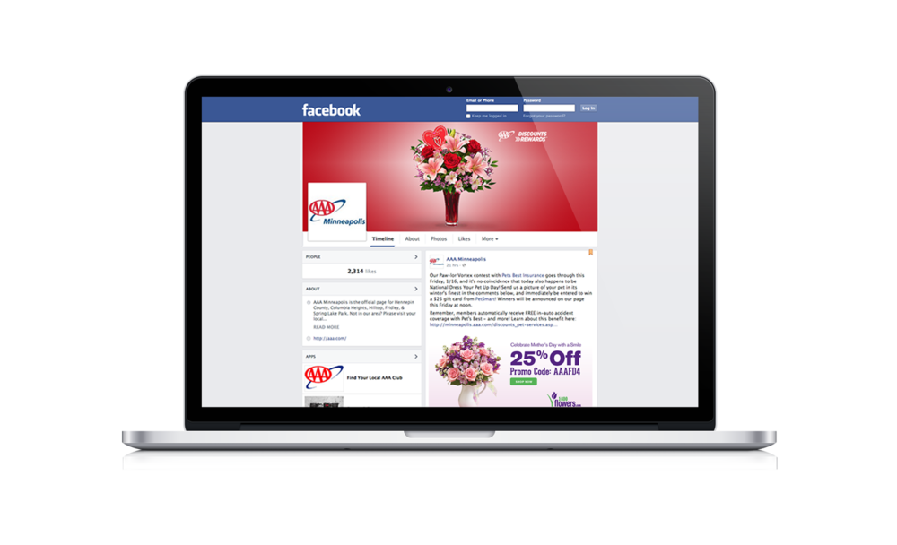 Facebook Banner | Discounts & Rewards Valentine's Day Promo