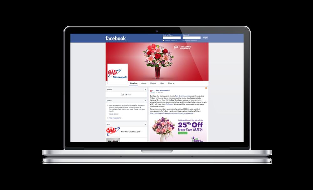 Facebook Banner | Discounts & Rewards Valentine's Day Promo